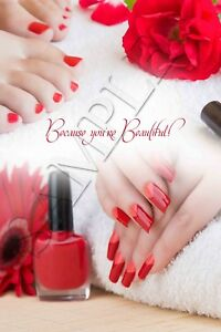Red Nail Spa : Salon, Poster, Beauty, Manicure, Pedicure