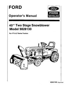 NEW HOLLAND Ford 40 inch 2 Stage Snowblower LT16 YT16