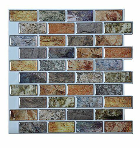 art3d peel stick bathroom kitchen backsplash tiles 6 piece