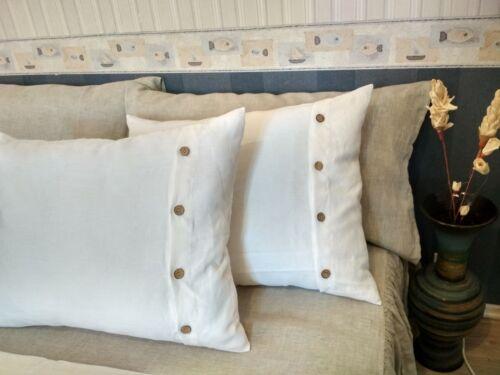 bedding linen pillowcase button closure king queen body pillow sham pillow shams