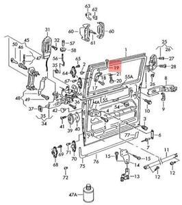 Genuine VW Eurovan Transporter roller guide for sliding