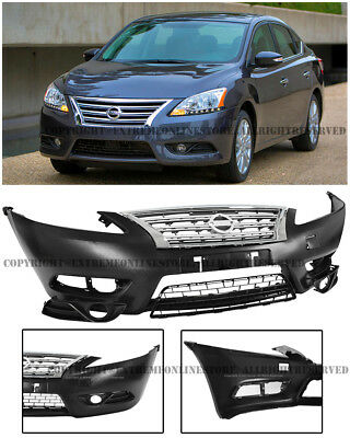 2015 Nissan Sentra Body Kit : nissan, sentra, Front, Bumper, Cover, Chrome, Upper, Lower, Grille, 13-16, Nissan, Sentra