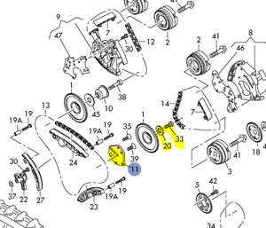 AUDI 3.0L 3.2L 2005-14 DRIVERS SIDE BEARING FOR DOUBLE