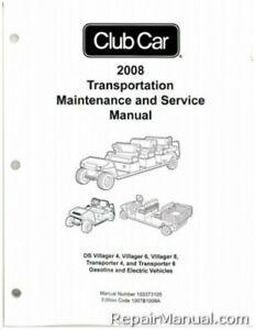 2008-2011 Club Car Transportation DS Villager 4, 6, 8