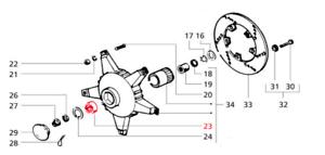 Piaggio Vespa PX 125 150 200 Disc Front Sealed Wheel