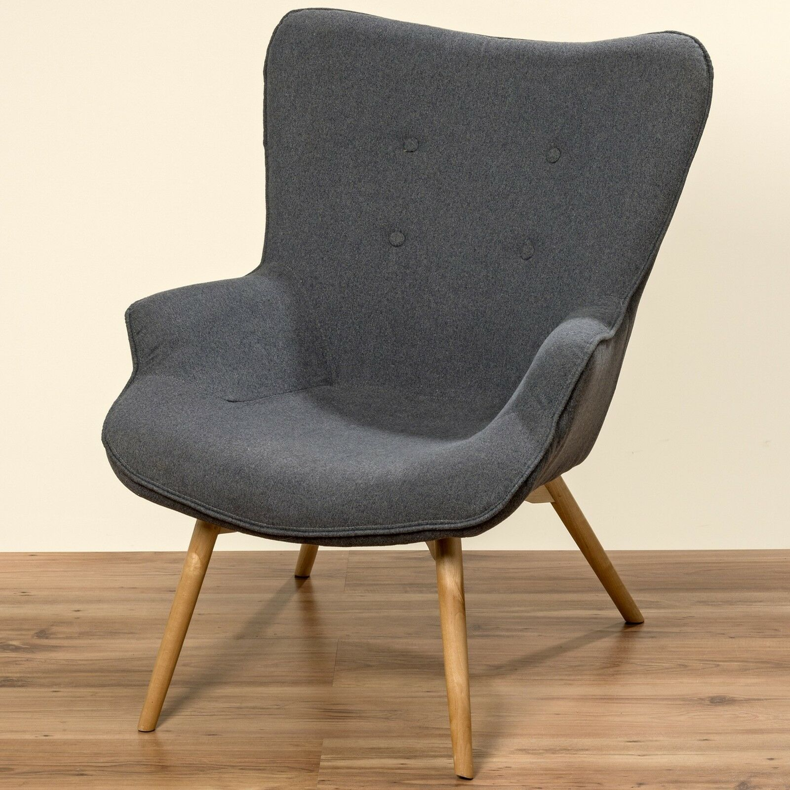 Wood Club Chair Fancy Chair 90cm Grey Fabric Wood Club Chair Lounge Chair Cocktail Chairs