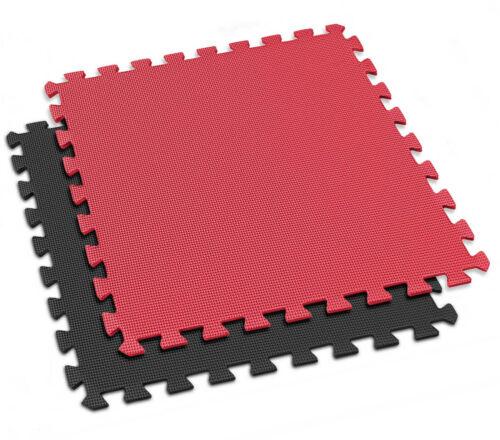 equipement accessoires 6 pieces hop sport tapis puzzle unterlegmatte tapis puzzle eva 1 cm noir rouge malecon