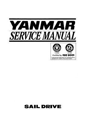 YANMAR SAIL DRIVE SD20 SD30 SD31 SERVICE MANUAL REPRINTED