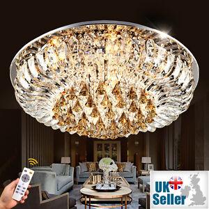 Image Is Loading K9 Crystal Chandelier Flush Ceiling Light Lamp 3