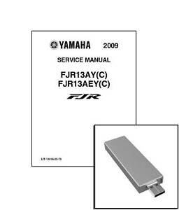 Yamaha FJR1300 2009 2010 2011 2012 Workshop Repair Service