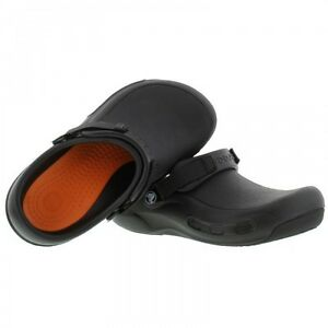 shoes for work in the kitchen island chairs crocs bistro pro clog anti slip black chefs nursing details about hospital