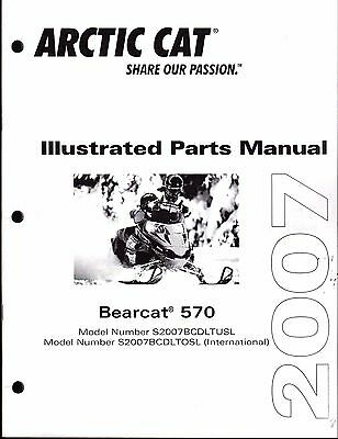 2007 ARCTIC CAT SNOWMOBILE BEARCAT 570 PARTS MANUAL P/N