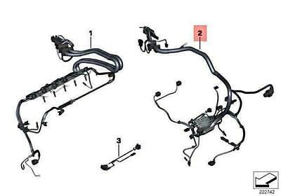 OEM BMW X6 E71 X6 35IX SAC WIRING HARNESS ENGINE GEARBOX