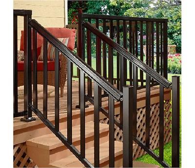 Peak Aluminum Railing 6 Ft Aluminum Stair Hand And Base Rail | Pre Assembled Stair Railing | Pressure Treated | Aluminum Stair | Deck Railing Systems | Cable Railing Kit | Deckorators