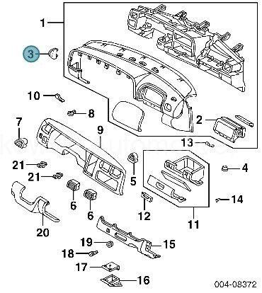 Dodge Dakota Dash Fuse Panel Cover Agate 97 98 OEM
