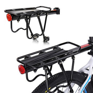 details about rear bike rack bicycle cargo rack adjustable alloy bicycle carrier 50kg capacity