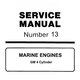 Mercury Mercruiser Service Manual No. 13 Marine Engines GM