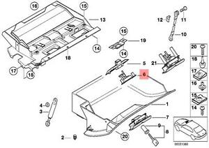 Genuine BMW E39 Sedan Wagon Glove Box Locking Mechanism