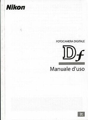 Nikon Df DF manuale istruzioni Italiano, NUOVO,Originale