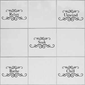 Tile Transfers Stickers For Bathroom Shower Toilet Fits 6x6 Tiles X 10 Ebay