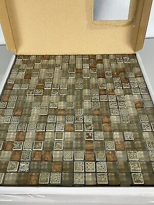 glass mosaic tiles vitrexmosaici by casa italia antica roma copper new full box ebay