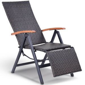 folding yard chair world market adirondack covers outdoor patio wicker rattan aluminum recliner stool image is loading