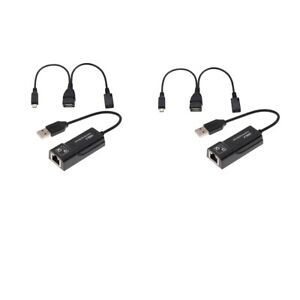 2Pcs LAN Ethernet Connector & USB Adapter for Fire Stick