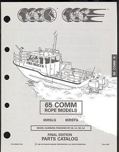 1993 OMC /JOHNSON / EVINRUDE 65 COMM HP ROPE MODELS