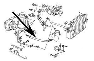 Air Conditioning,AC, Accumulator Hose,C4 Corvette,1984,5