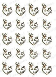 nail decals deer buck and doe