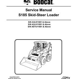 new bobcat s185 skid steer loader 2011 edition service repair manual 6987049 image [ 1000 x 1294 Pixel ]