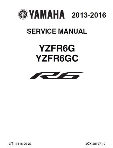 Automotive 2013 2014 2015 2016 Yamaha YZF R6 paper service