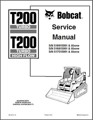 Bobcat T200 Turbo / Turbo High Flow Compact Track Loader