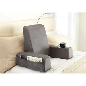 details zu carepeutic spine relax backrest bed lounger reading pillow with heated comfort