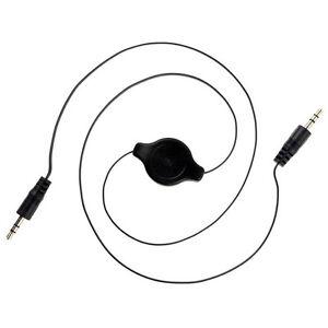 Retractable Double End 3.5mm Jack Male Audio Aux Cable
