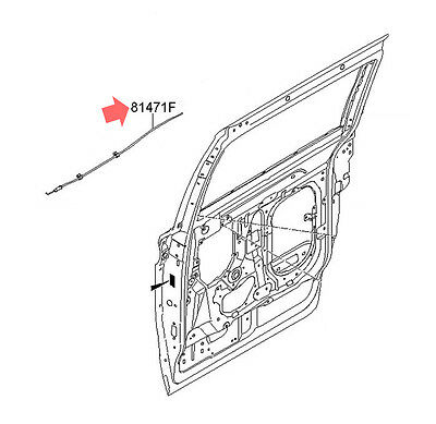 OEM 81471 4D000 Rear Inside Door Handle Cable 1p For Kia