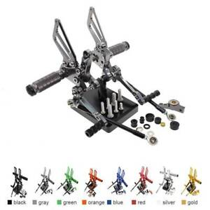 FXCNC CNC Adjustable Rear Sets Rearsets Footpegs For