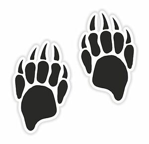 2x Badger Paw Print Stickers indicates Creative Power for