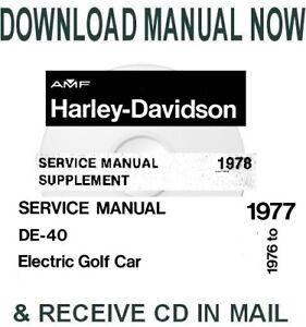 Harley-Davidson DE40 electric golf carts factory service