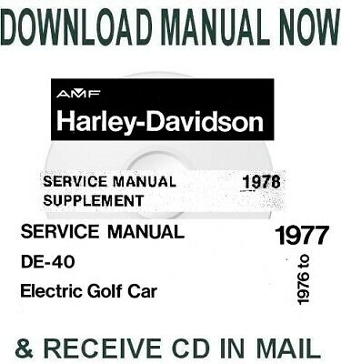 Harley-Davidson DE40 electric golf carts factory service