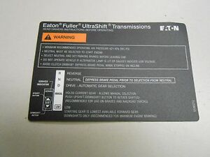 eaton fuller transmission diagram cow meat basic 5586272 shift label ebay image is loading
