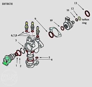 Aprilia SR 50 DITECH ,Repair O-ring kit + Teflon for all