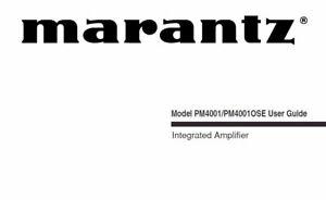 MARANTZ PM4001 PM4001 OSE user guide LIBRO in Inglese