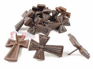 Lot 12 Cross Nail Craft Pin Nail Custom Work Cast Iron