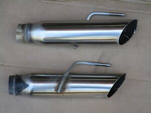 details about 99 04 mustang gt exhaust tips oem 4 6 efi 2004 gt black