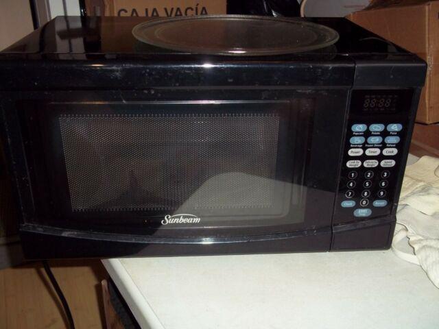 sunbeam black microwave oven 7 cu ft