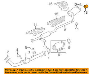 details about honda oem 13 15 accord 2 4l l4 exhaust finish pipe 18310t2fa02
