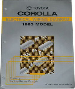 1993 Toyota Corolla Electrical Wiring Diagrams  Original