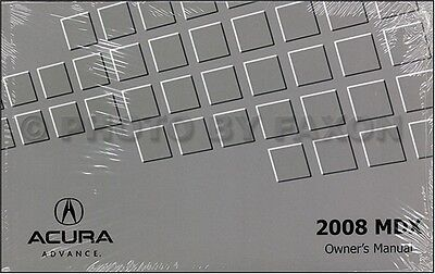 2008 Acura MDX Owners Manual Original Owner Guide Book