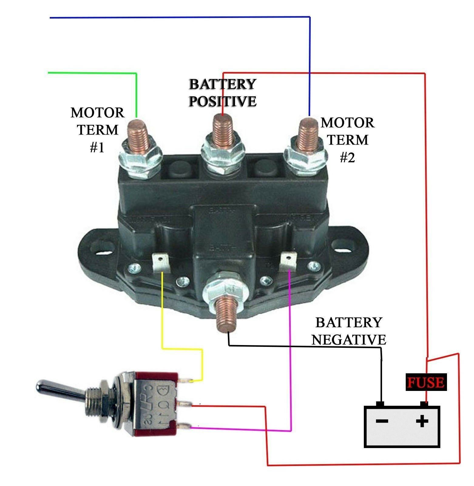 hight resolution of 12 volt reversing relay wiring diagram wiring diagram toolbox winch motor reversing solenoid wiring